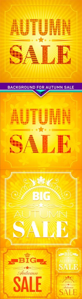 Background for autumn sale 6X EPS