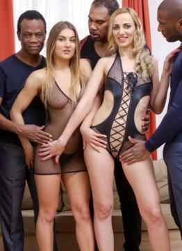 Afina Kisser, Allen Benz - 4 On 2 Intense Hard Interracial Kinky Fucking IV004 (2016) HD 720p