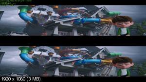 Аисты 3D / Storks 3D   ( by Ash61) Вертикальная анаморфная стереопара
